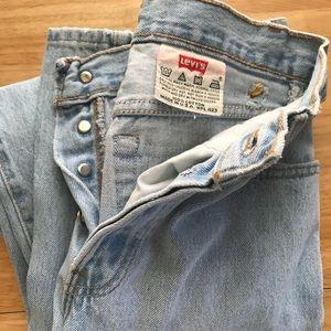"""Vintage Levi 501s Light Wash 24"""" waist"""
